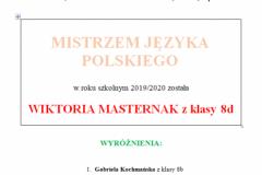 Wynki konkursów w ramach Tygodnia Języka Polskiego
